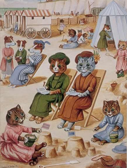 louis wain - cats at the beach (lomakuva 2013)