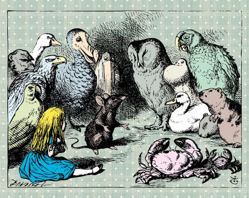 AW1_B_Alice_In_Wonderland_Animal_Meeting_Wall_Mural